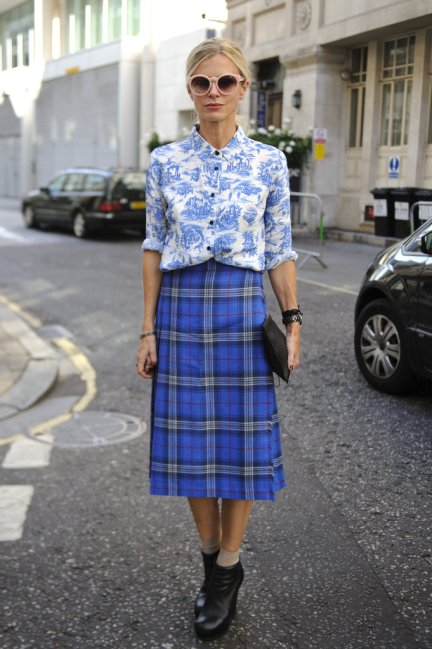 London-Fashion-Week-Street-Style-laura-bailey-plaid