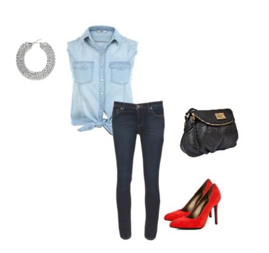 Camisa MASSIMO DUTTI/ jeans ZARA / zapatos ZARA/ bolsa MARC BY MARC JACOBS / collar  H&M
