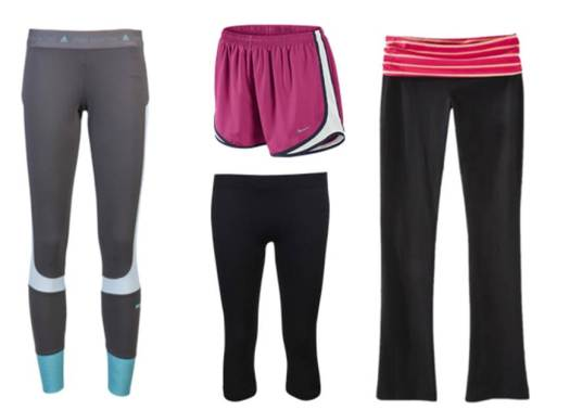 Leggings, shorts NIKE / yoga pants PINK