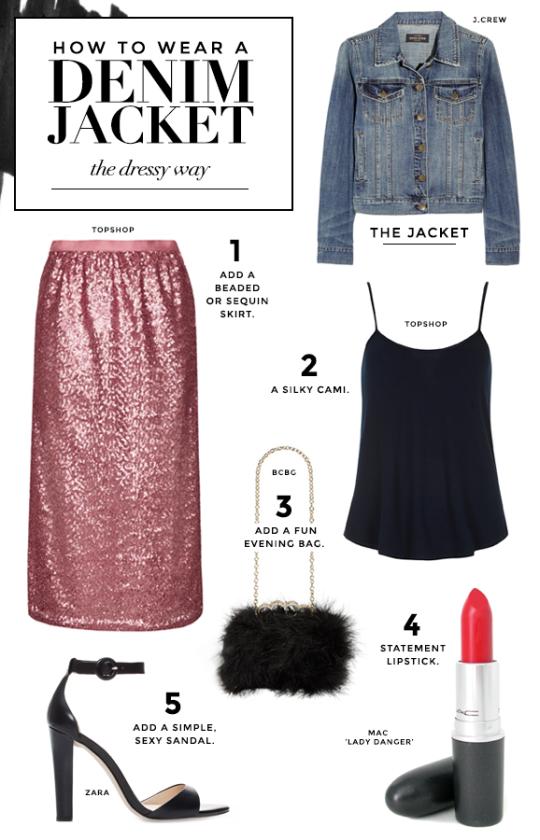 how-to-wear-denim-jacket-dressy