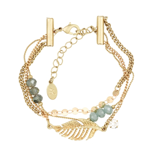 Accessorize Jaya Leaf And Bead Clasp Bracelet 684062 £8 May