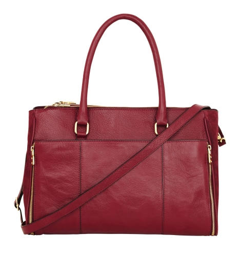 Accessorize Leather Clara Double Zip Shoulder Bag 689325 £95 August
